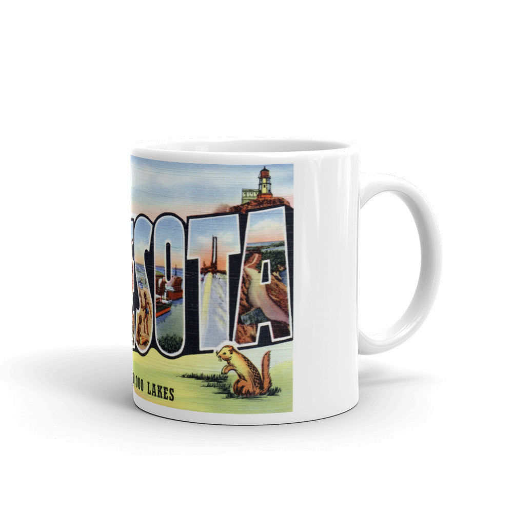 Greetings from Minnesota Unique Coffee Mug, Coffee Cup 2