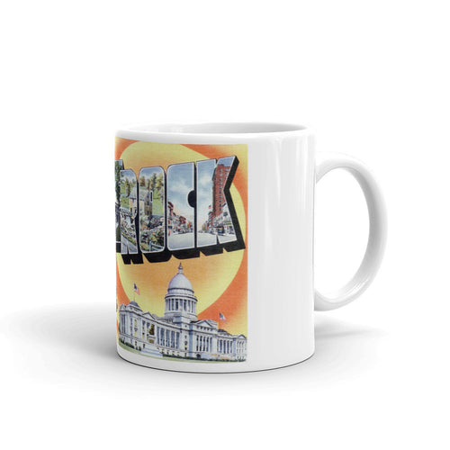 Greetings from Little Rock Arkansas Unique Coffee Mug, Coffee Cup 1