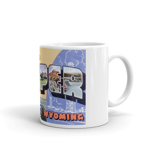 Greetings from Casper Wyoming Unique Coffee Mug, Coffee Cup