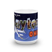 Greetings from Dayton Ohio Unique Coffee Mug, Coffee Cup