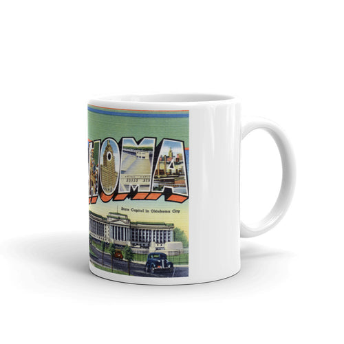Greetings from Oklahoma Unique Coffee Mug, Coffee Cup 1