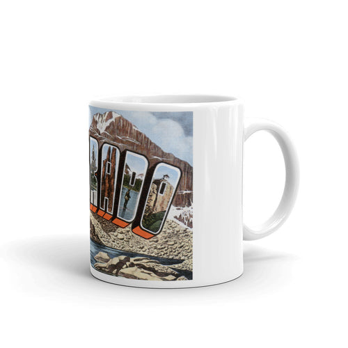 Greetings from Colorado Unique Coffee Mug, Coffee Cup 3