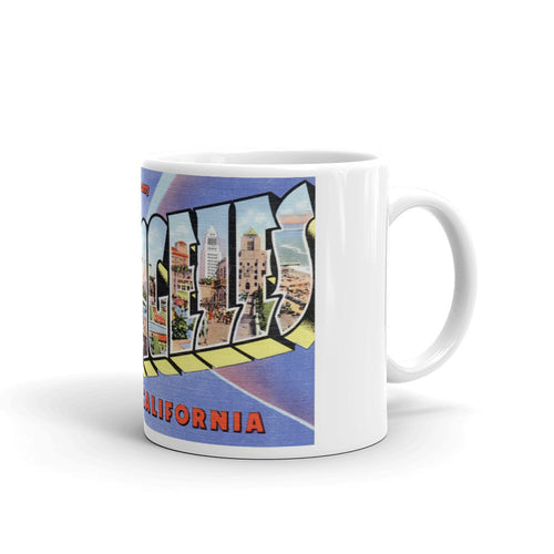 Greetings from Los Angeles California Unique Coffee Mug, Coffee Cup 1