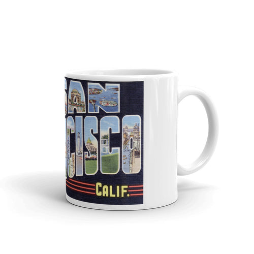 Greetings from San Francisco California Unique Coffee Mug, Coffee Cup 1