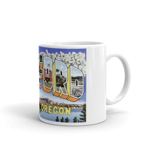 Greetings from Medford Oregon Unique Coffee Mug, Coffee Cup