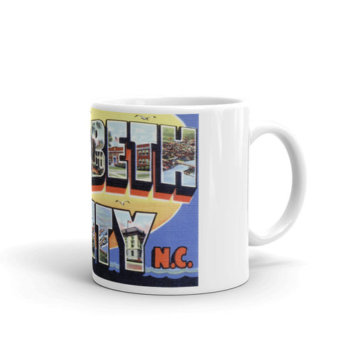 Greetings from Elizabeth City North Carolina Unique Coffee Mug, Coffee Cup