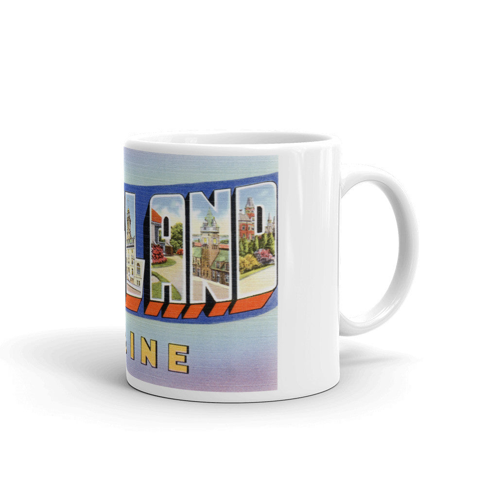 Greetings from Portland Maine Unique Coffee Mug, Coffee Cup 1
