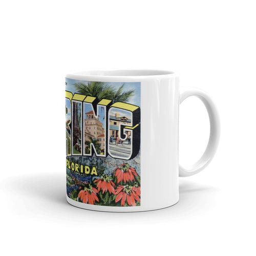 Greetings from Sebring Florida Unique Coffee Mug, Coffee Cup