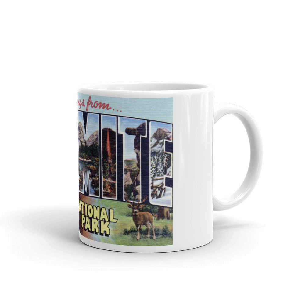 Greetings from Yosemite California Unique Coffee Mug, Coffee Cup