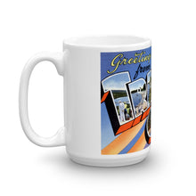 Greetings from Traverse City Michigan Unique Coffee Mug, Coffee Cup