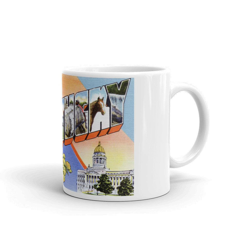 Greetings from Kentucky Unique Coffee Mug, Coffee Cup 3