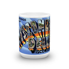 Greetings from Wisconsin Dells Wisconsin Unique Coffee Mug, Coffee Cup 1