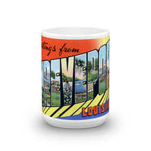 Greetings from Shreveport Louisiana Unique Coffee Mug, Coffee Cup