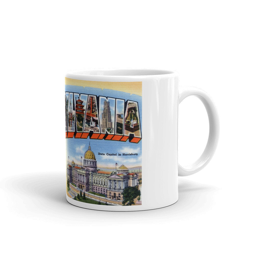 Greetings from Pennsylvania Unique Coffee Mug, Coffee Cup