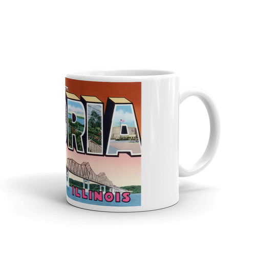 Greetings from Peoria Illinois Unique Coffee Mug, Coffee Cup