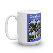 Greetings from Great Smoky Mountains Tennessee Unique Coffee Mug, Coffee Cup 1
