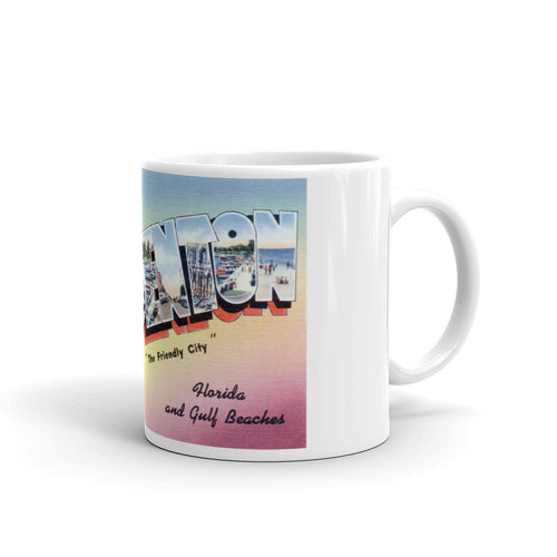 Greetings from Bradenton Florida Unique Coffee Mug, Coffee Cup