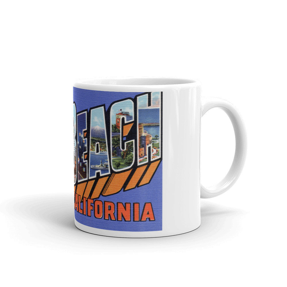 Greetings from Long Beach California Unique Coffee Mug, Coffee Cup