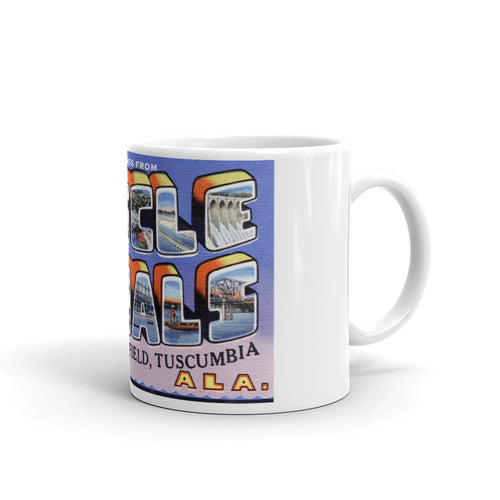 Greetings from Muscle Shoals Alabama Unique Coffee Mug, Coffee Cup