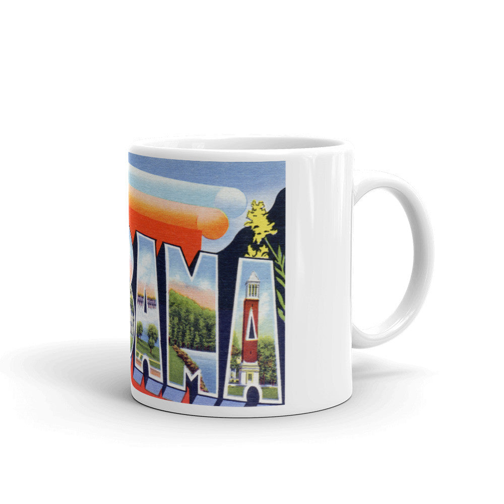 Greetings from Alabama Unique Coffee Mug, Coffee Cup 2