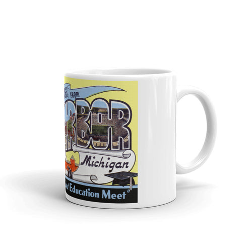 Greetings from Ann Arbor Michigan Unique Coffee Mug, Coffee Cup 2