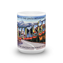 Greetings from Evanston Wyoming Unique Coffee Mug, Coffee Cup