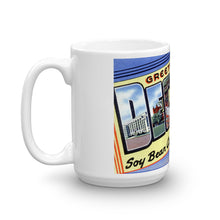 Greetings from Decatur Illinois Unique Coffee Mug, Coffee Cup