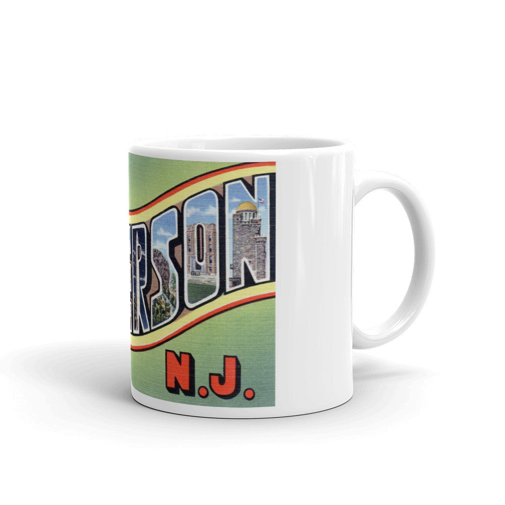 Greetings from Paterson New Jersey Unique Coffee Mug, Coffee Cup