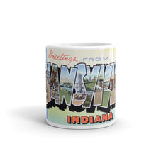 Greetings from Evansville Indiana Unique Coffee Mug, Coffee Cup