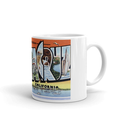 Greetings from Santa Cruz California Unique Coffee Mug, Coffee Cup