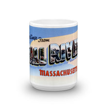 Greetings from Fall River Massachusetts Unique Coffee Mug, Coffee Cup