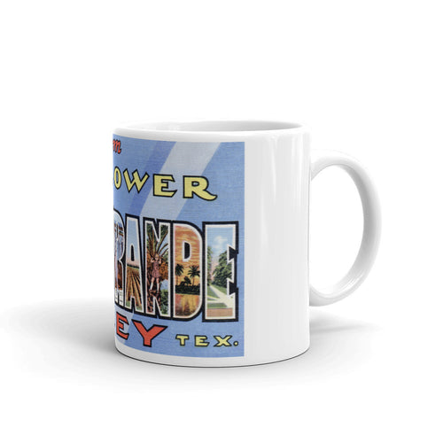 Greetings from Rio Grande Texas Unique Coffee Mug, Coffee Cup