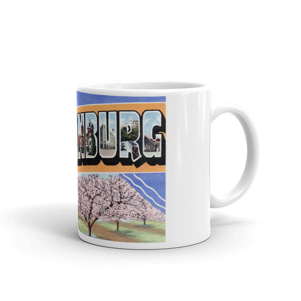 Greetings from Spartanburg South Carolina Unique Coffee Mug, Coffee Cup 1