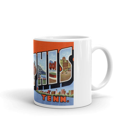 Greetings from Memphis Tennessee Unique Coffee Mug, Coffee Cup