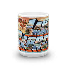 Greetings from Lake George New York Unique Coffee Mug, Coffee Cup
