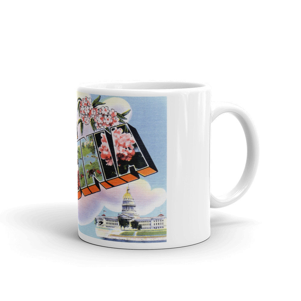 Greetings from West Virginia Unique Coffee Mug, Coffee Cup 3