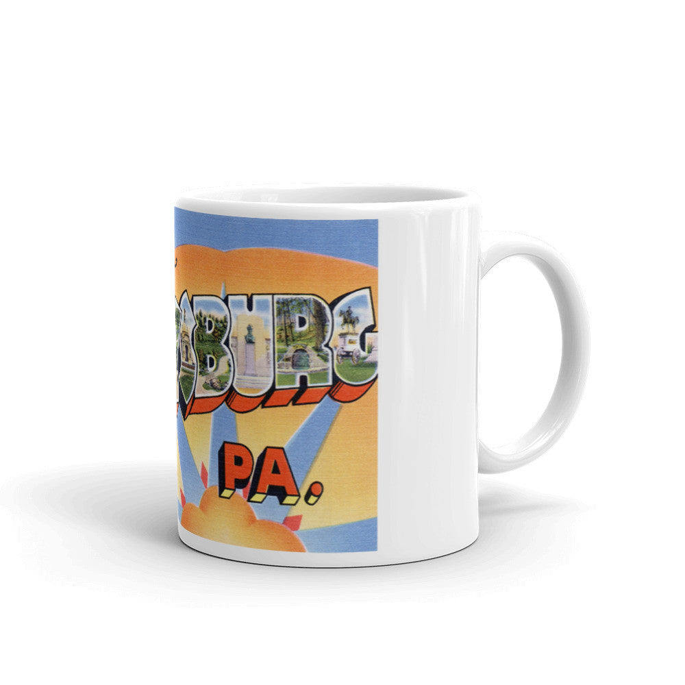 Greetings from Gettysburg Pennsylvania Unique Coffee Mug, Coffee Cup