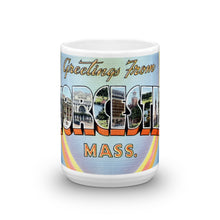 Greetings from Worcester Massachusetts Unique Coffee Mug, Coffee Cup