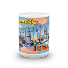 Greetings from Des Moines Iowa Unique Coffee Mug, Coffee Cup 1