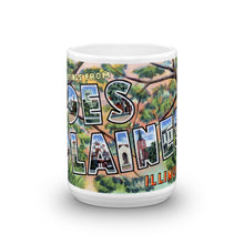 Greetings from Des Plaines Illinois Unique Coffee Mug, Coffee Cup