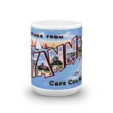 Greetings from Hyannis Massachusetts Unique Coffee Mug, Coffee Cup