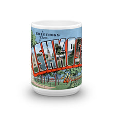 Greetings from Oshkosh Wisconsin Unique Coffee Mug, Coffee Cup 1