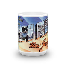 Greetings from Cape May New Jersey Unique Coffee Mug, Coffee Cup