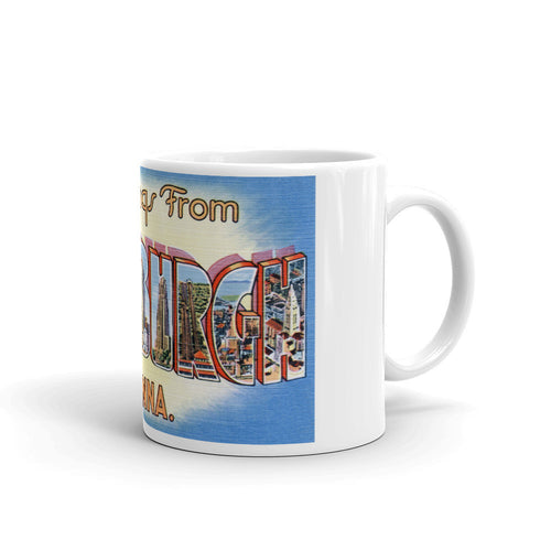 Greetings from Pittsburgh Pennsylvania Unique Coffee Mug, Coffee Cup 2