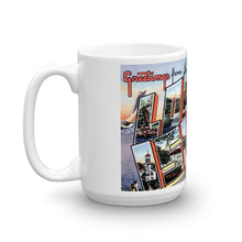 Greetings from Long Island New York Unique Coffee Mug, Coffee Cup 1