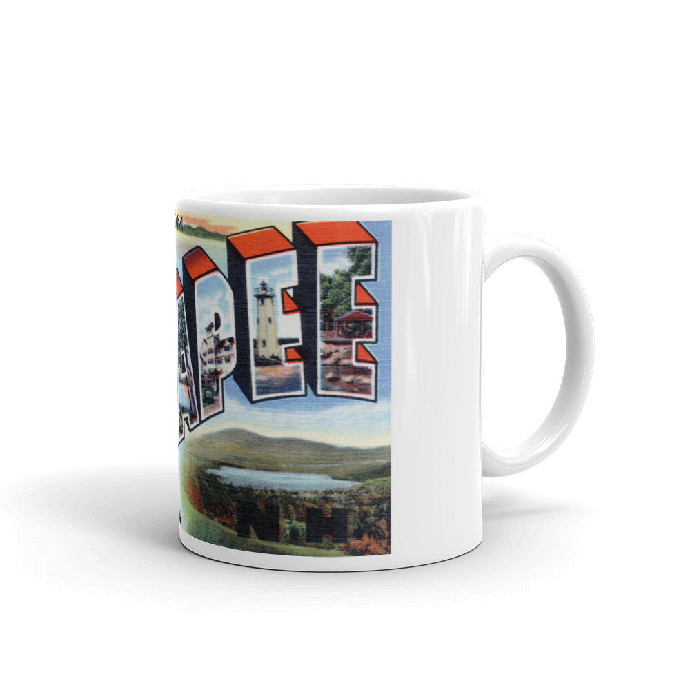 Greetings from Lake Sunapee New Hampshire Unique Coffee Mug, Coffee Cup