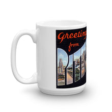 Greetings from Pittsburgh Pennsylvania Unique Coffee Mug, Coffee Cup 1