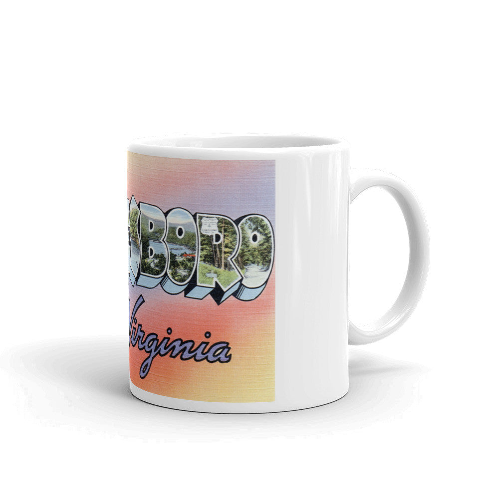 Greetings from Waynesboro Virginia Unique Coffee Mug, Coffee Cup