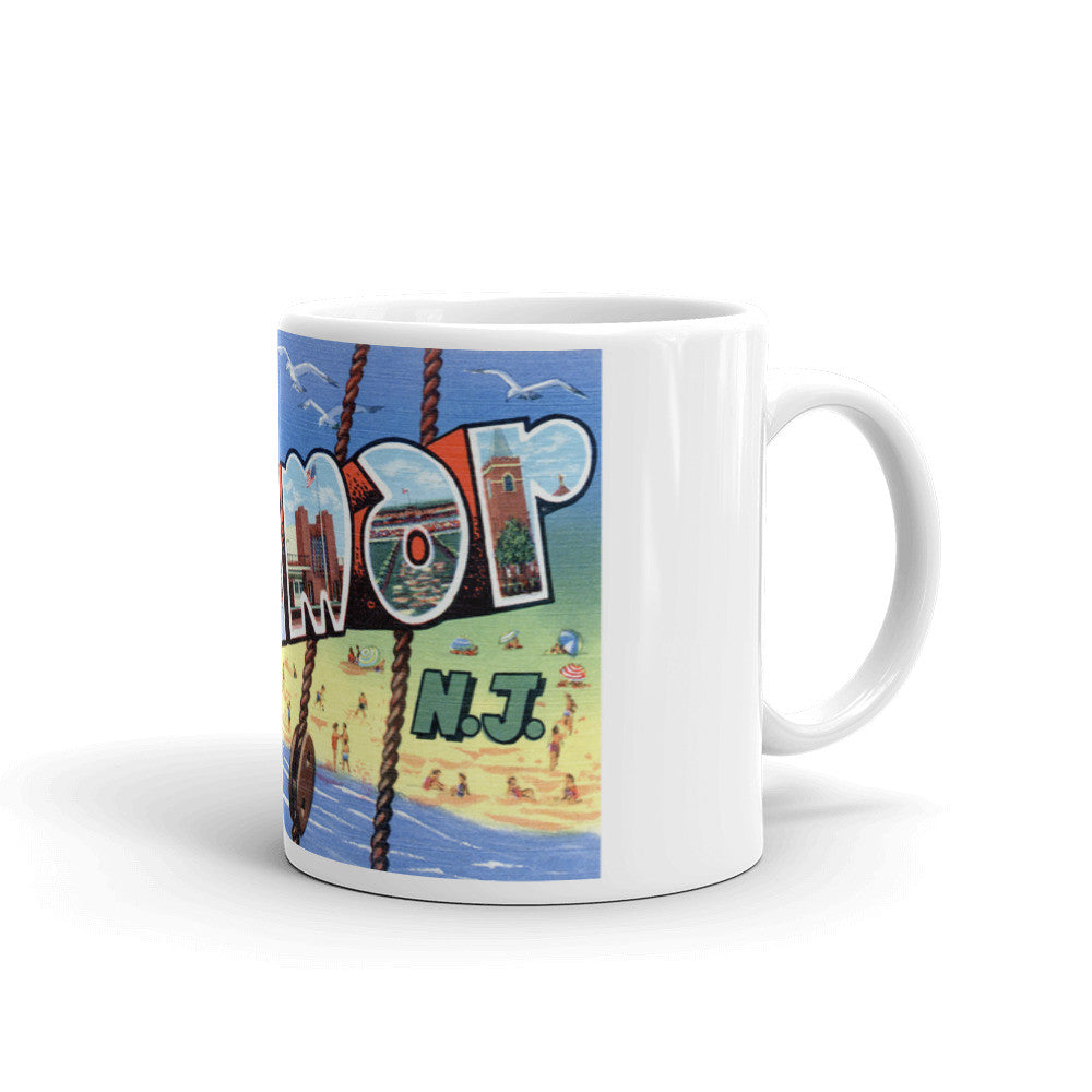 Greetings from Belmar New Jersey Unique Coffee Mug, Coffee Cup 1