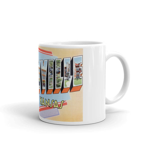 Greetings from Coffeyville Kansas Unique Coffee Mug, Coffee Cup